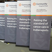 Banner Stands for Community Hospital East
